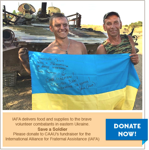 IAFA delivers food and supplies to the brave volunteer combatants in eastern Ukraine: Save a soldier!